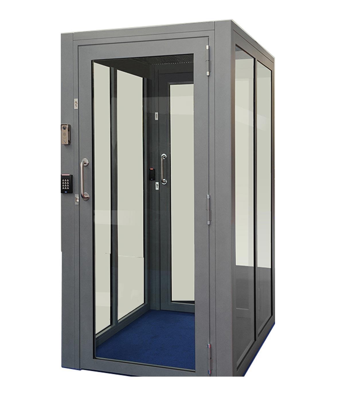 interlocking lock system man trap door system man trap door locks embassy entrance door flow control trap door interlock locking system