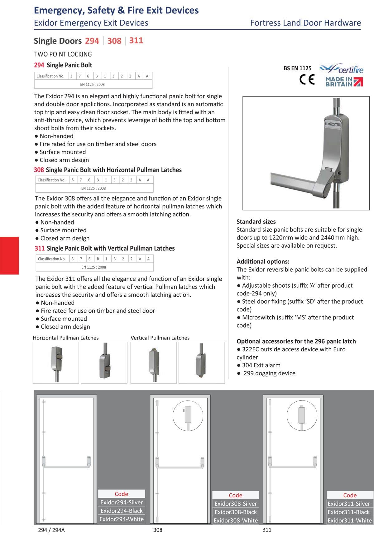 exidor emergency exit device, emergency exit door, fire exit door, escape door, horizontal exit device, vertical exit device, surface mounted exit device, Fortress Land Security Company Yangon, Myanmar