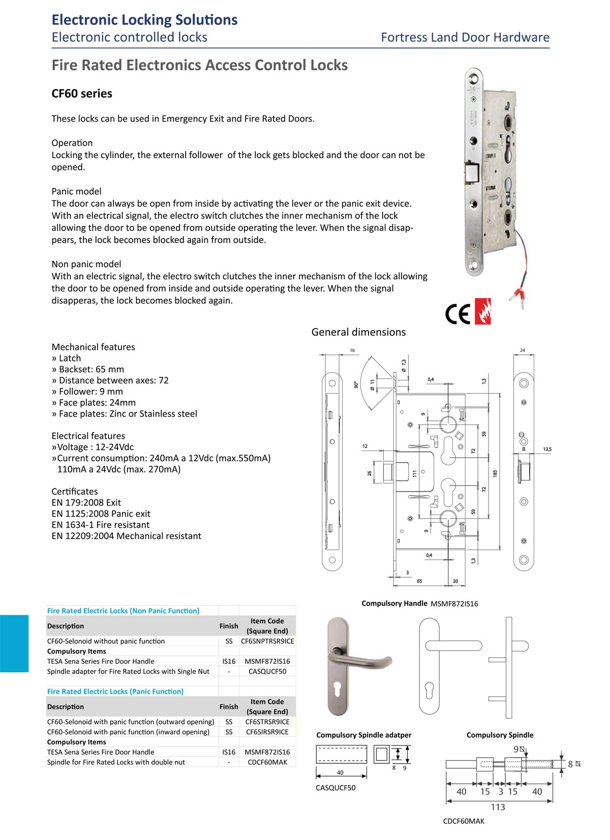 abloy electric lock, abloy el560, abloy electric lock, electronic controlled lock, emergency exit door lock, high security access control lock, double swing doorlock, electric strike, fire rated electric lock, Fortress Land Security Company Yangon, Myanmar